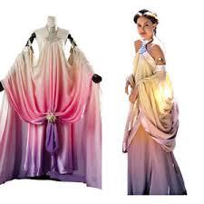 costume wedding dresses wars 3 padme amidala naberrie lake side wedding gown