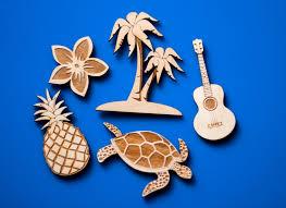 hawaiian home decor island fridge magnet set hawaiian luau home decor laser cut