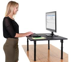 standing computer desk monitor arm u0026 laptop cradle mobile