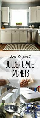 diy spray painting kitchen cabinets how to paint builder grade cabinets
