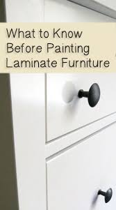 what to know before painting laminate furniture painting