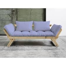 canapé convertible matelas canapé convertible en bois naturel avec matelas futon bebop brise