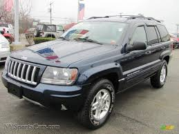 2004 jeep grand cherokee laredo 4x4 in midnight blue pearl