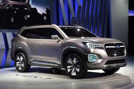 subaru sports car 2016 la auto show subaru unveils the super big suv viziv 7 concept