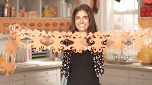 video spooky halloween paper garland martha stewart