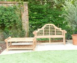 lutyens 3 seater teak bench u0026 coffee table garden sculptures