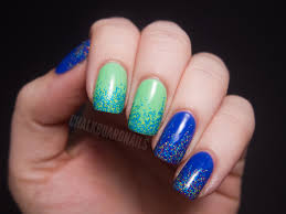 picture 1 of 6 glitter nail designs photo gallery
