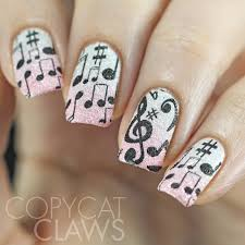 music stamping over textured polish stamping nail art 2
