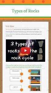 Types Of Rocks Worksheet Preview By Keristian Edwards Blended Worksheets Wizer Me