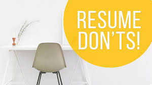 See Resume Things Hiring Managers Don U0027t Want To See On Your Resume Youtube