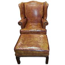 Leather Wingback Chair With Ottoman Design Ideas Furniture Leather Wingback Chair And Ottoman Luxury Design