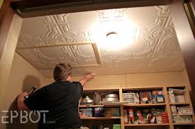How To Put Up Tin Ceiling Tiles by Epbot Diy Faux Tin Tile Ceiling