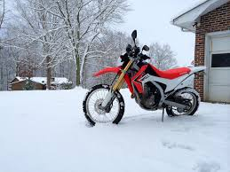 crf250l in the snow crf250l