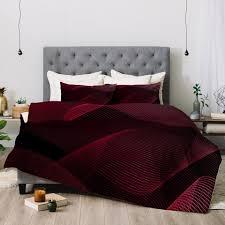 Maroon Comforter Emanuela Carratoni Comforters Deny Designs