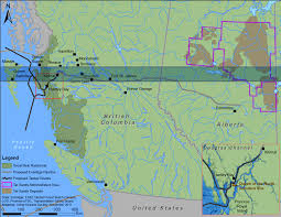 Northern Canada Map Case Study Northern Gateway Pipeline Student Research On