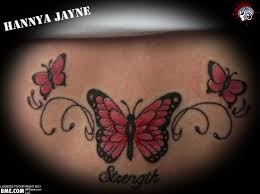 black butterfly on lower back tattooshunt com
