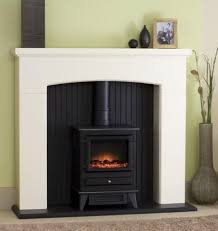 Electric Fireplace Stove Fireplace Stove With White Surround Mantel Search