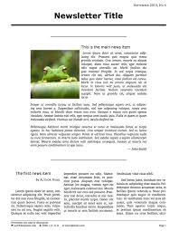 latex templates short three column newsletter