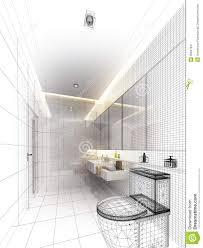 sketch design of interior bathroom stock image image 36947941