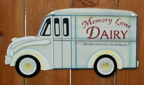 memory lane dairy tin metal sign milkman milk home country decor