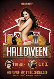 free halloween party psd flyer template http freepsdflyer com