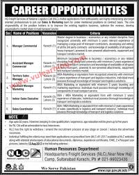 Sales Coordinator Job Description Jobs 2017 Hq Freight Services Of National Logistics Cell Karachi