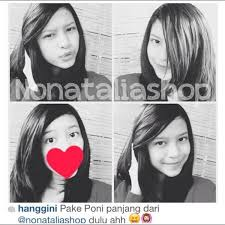 hair clip poni nonataliashop on hanggini with our merr bangs