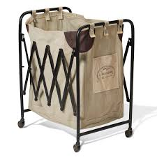 Dirty Laundry Hamper by Home Tips Rolling Laundry Basket Canvas Laundry Hamper