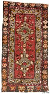 k0009535 red vintage kirsehir kilim rug kilim rugs overdyed