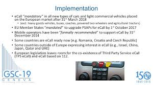 types of cars an update on ecall activities in etsi and other related bodies