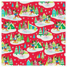 mickey wrapping paper mickey mouse minnie mouse gift wrap wrapping paper roll christmas