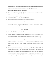 cbse 12th board mathematics last years question papers 2017 2018