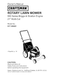 craftsman lawn mower 917 388201 user guide manualsonline com