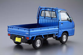 1 24 Subaru Tt2 Sambar Truck Wr Blue Limited U002711 Aoshima English