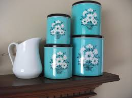 teal kitchen canisters 35 images teal hibiscus ceramic vase teal kitchen canisters teal and black vintage kitchen canisters set by abbyharevintage