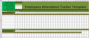 Attendance Sheet Template Excel Employee Attendance Calendar Tracker Templates 2016