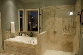 modern master bathroom with drop in bathtub by newcreationsaustin