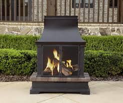 Fireplace Patio by Treasures Bronze Steel Outdoor Wood Burning Fireplace At Outdoor