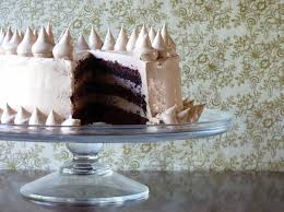 midnight chocolate cake with milk chocolate buttercream