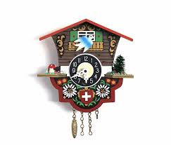 one flew over the cuckoo clock vintage german cuckoo clock red
