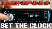 how to set clock on pioneer car radio youtube