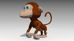 3d model monkey animated cgtrader