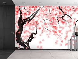 wall26 com art prints framed art canvas prints greeting wall26 large wall mural japanese cherry tree blossom in watercolor painting style self adhesive vinyl wallpaper removable modern decorating wall art