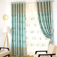 Fabric For Curtains Green Striped Modern Style Fabric Geometric Curtains Modern