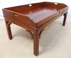 tray top hardwood coffee table