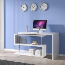 white high gloss desk miami computer desk rotating in white high gloss 24020