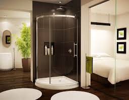 Simple Elegant Bathrooms by Bahtroom Wooden Floor For Alluring Bathroom With Plain Wall Paint