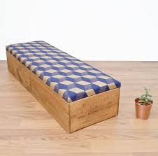 upcycled wine crate ottoman bedroom storage by made anew