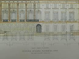 front elevation municipal building waterbury ct 1915 cass