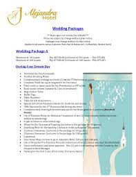 Wedding Packages Alejandra Hotel